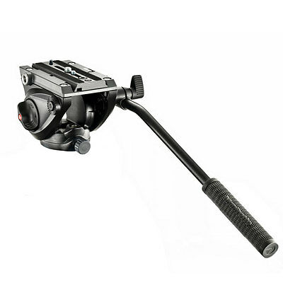 Manfrotto  Lightweight Fluid Tripod Video head with Flat Base  MVH500AH