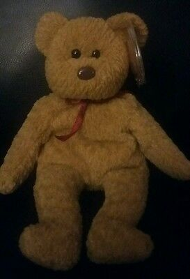 TY Beanie Baby Very Rare CURLY BEAR orig. collectible with Tag Errors.