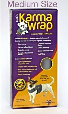 Petlife Karma Wrap Dog Anxiety Coat ~ MEDIUM Size ~ Effective, Natural & Safe