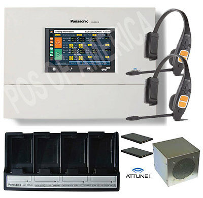 Panasonic Attune II 2 Headset CH450 All-in-one Digital Drive-Thru System Single