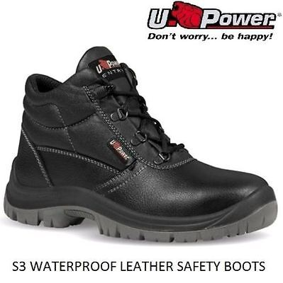 New Mens S3 Waterproof Steel Toe Cap Midsole Work Safety Boots Shoes Trainers Sz