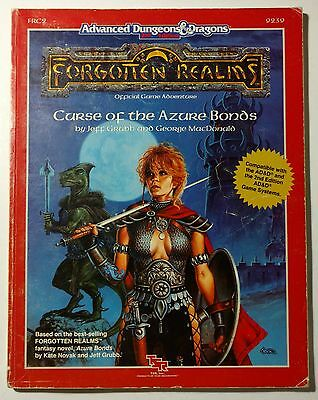 FRC2 AD&D Curse of the Azure Bonds Dungeons & Dragons TSR 9239 Forgotten Realms