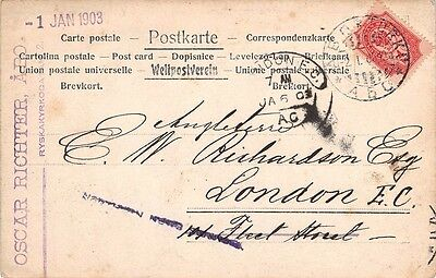 FINLAND Postcard - used with Russian Stamp from Abo Turku, Nice Postmark 1903