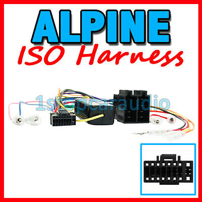 ISO WIRING HARNESS for ALPINE CDE-163EBT adaptor cable connector lead loom plug