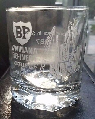 British Petroleum Kwinana Refinery Excellence in Safety 1987 Whiskey glasses