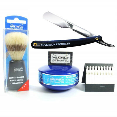 Cutthroat Razor Shaving Set. Made Up Of 5 Quality Products. Gift Sets For Him