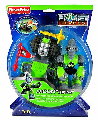 """Fisher Price Planet Heroes Moon """"lunar"""" W/ Crater Cruiser & Dvd *new*"""