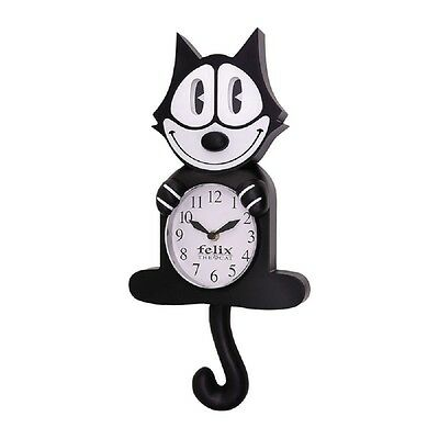 Felix the Cat CLOCK 3D Motion Wall Clock BLACK