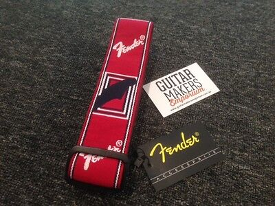 Guitar & Bass Strap – FENDER 2″ Monogrammed – Red – RRP $39.99