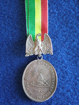 Bolivia: Medal of the Potosi Town Council for Conspicuous Merit 1880.