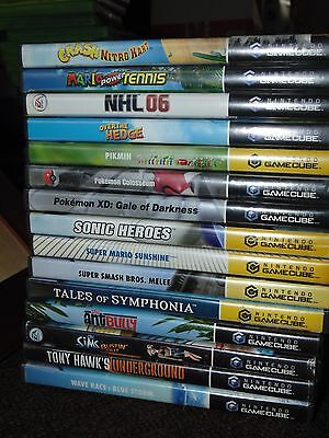 *NO GAMES* Cases Only (Some With Manuals) GC NGC GCN GameCube YOU PICK & CHOOSE!