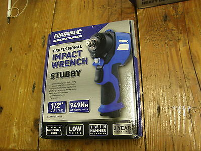 """Kincrome Pneumatic Impact Wrench Stubby 1/2"""" Drive"""