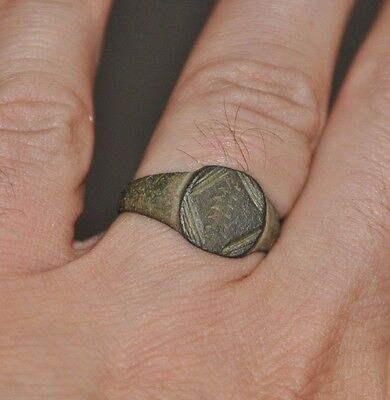 Ancient Authentic Roman Empire Soldier Legionary Bronze Wearable Ring Sz US 10