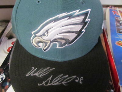 Wendell Smallwood Philadelphia Eagles Signed fitted Hat COA 3