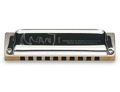 Suzuki Harmonica Manji M-20 Professional Diatonic 10-Hole Key of  F# Japanese
