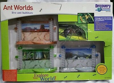 New! Discovery Channel Nature Ant Worlds Live Ant Habitats