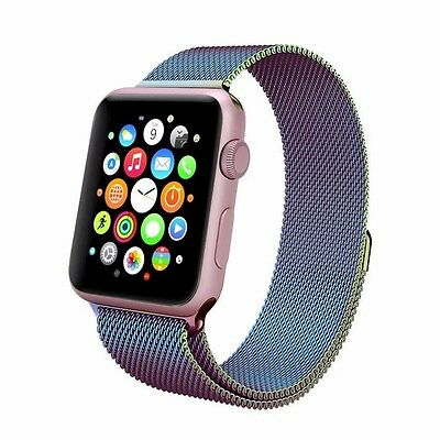 Milanese Loop Stainless Steel Strap Bands For Apple Watch Band iWatch 42mm CLy#