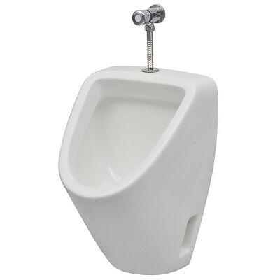 Ceramic Urinal with Flush Valve Bathroom WC Toilet White Wall Hung Exposed
