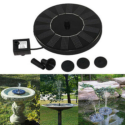 Solar Power Birdbath Water Floating Fountain Pump Pool Garden Decor Eyeable Nice