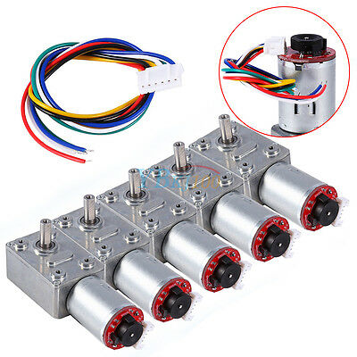 Reversible High Torque Turbo Worm Geared Reduction Motor Encoder DC12V 10-100RPM