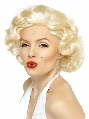 Marilyn Monroe Wig Hollywood Curly Wig Fancy Dress Blonde Bombshell Hen Stag