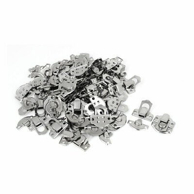 Suitcase Gift Box Trunk Lock Buckle Latch Catch Toggle Hasp Silver Tone 50PCS