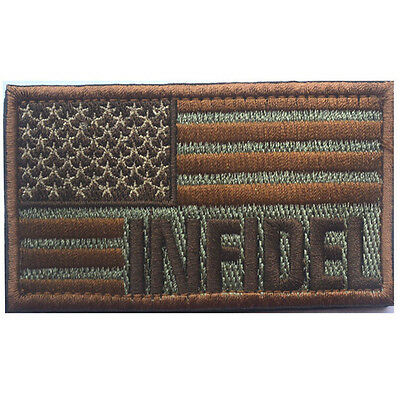 Usa Flag With Infidel U.s. Flag Army 3D Morale Badge Tactical Hook Loop Patch #6