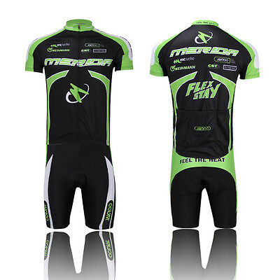 MERIDA Summer Hommes MTB Cycling  Jersey et Vêtements Vélo Kit (Bib) Shorts Set
