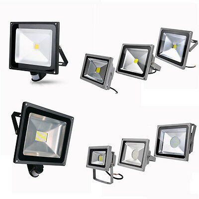 Outdoor Security LED Floodlight 20/30/50/80/100W Day/Warm White Garden Lamp