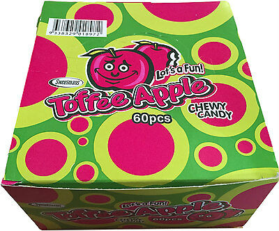 *BULK BUY* 60 x TOFFEE APPLE BARS 12g - Fast & free post - Kids party lollies