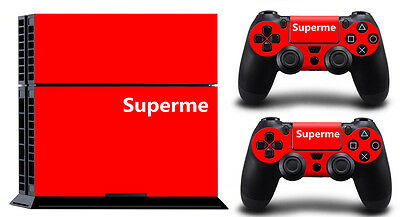 SUPERME RED PS4 DECAL SKIN PROTECTIVE STICKER for SONY PS4 CONSOLE CONTROLLER