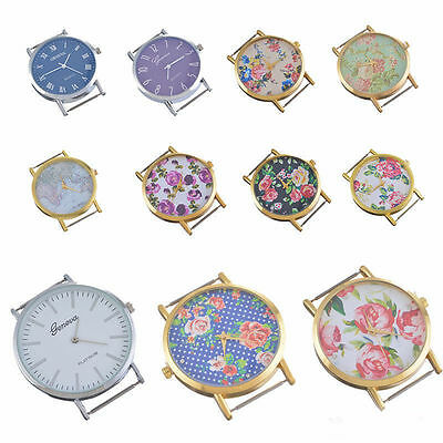 SJ Fashion Watch Face Flower Floral Print for Watch Jewellery Making Craft DIY