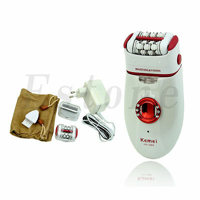 Lady Cordless Rechargeable Hair Removal Body Facial Hair Epilator Trimmer New