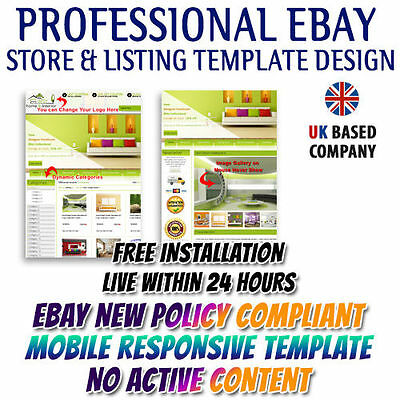 NICE eBay Store Front, Listing Mobile Responsive Templates for