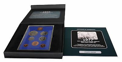1977 Her Majesty's Silver Jubilee Coin and Stamp Set