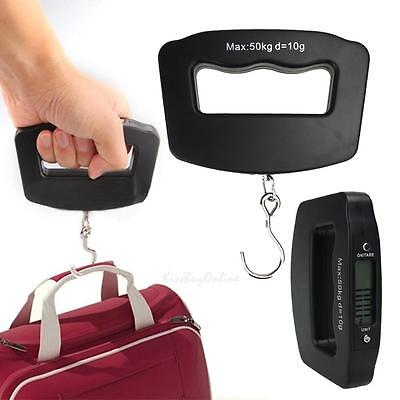 Portable 50Kg*10g Digital LED Hand Held Fish Hook Luggage Hanging Scale NEW