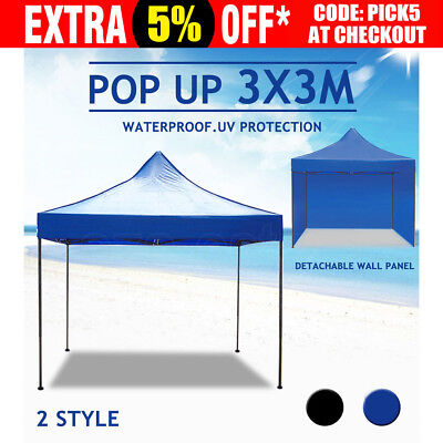 3x3M Folding Outdoor Gazebo Marquee Tent Canopy Pop Up Party Stall Outdoor BBQ