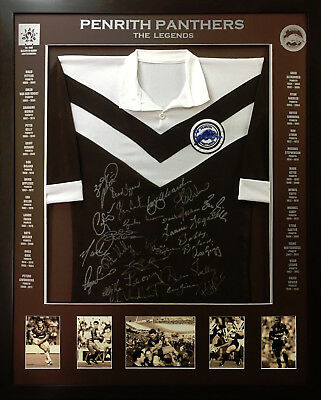 Blazed In Glory - Penrith Panthers Legends - NRL Signed and Framed Jersey