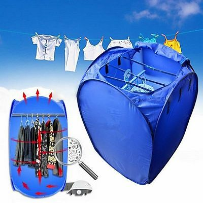 800W Portable Electric Hot Air Clothes Dryer Fast Drying Machine Indoor Hanger