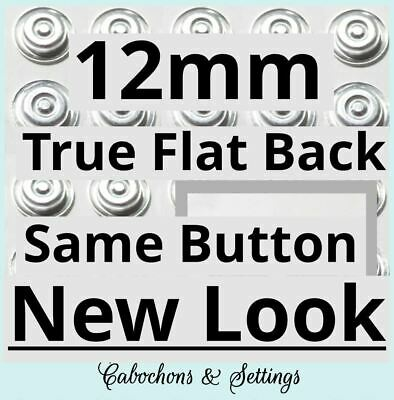 50 Self Cover Buttons 12mm Fabric Cover FLAT Back Button DIY   new BETTER style