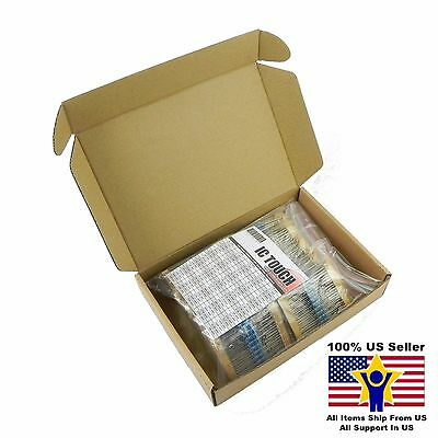 100value 1000pcs 1/2W Metal Film Resistor Assortment Kit US Seller KITB0079