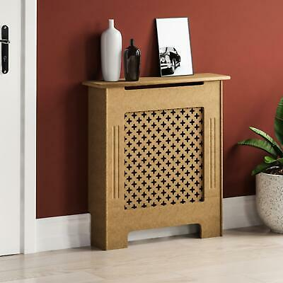 Oxford Radiator Cover Small Natural MDF Traditional Unfinished Heat Guard