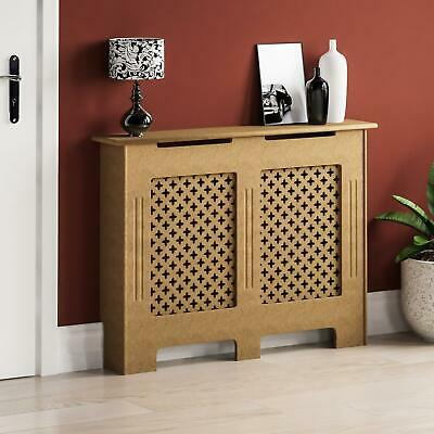Oxford Radiator Cover Medium Natural MDF Traditional Unfinished Heat Guard