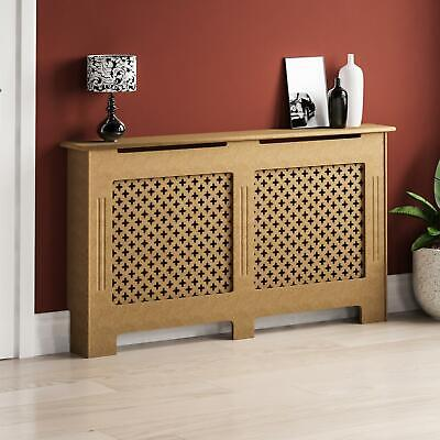Oxford Radiator Cover Large Natural MDF Traditional Unfinished Heat Guard