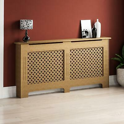Oxford Radiator Cover Extra Large Natural MDF Traditional Unfinished Heat Guard