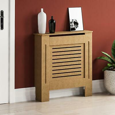 Milton Radiator Cover Small Natural MDF Modern Unfinished Cabinet Heating Guard
