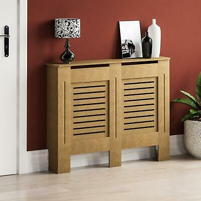 Milton Radiator Cover Medium Natural MDF Modern Unfinished Cabinet Heating Guard