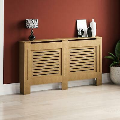 Milton Radiator Cover Large Natural MDF Modern Unfinished Cabinet Heating Guard