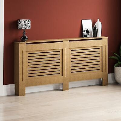 Milton Radiator Cover Extra Large Natural MDF Modern Unfinished Heating Guard