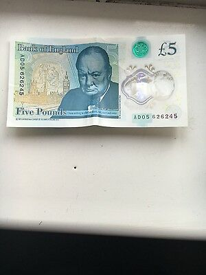 new polymer £5 note AD05